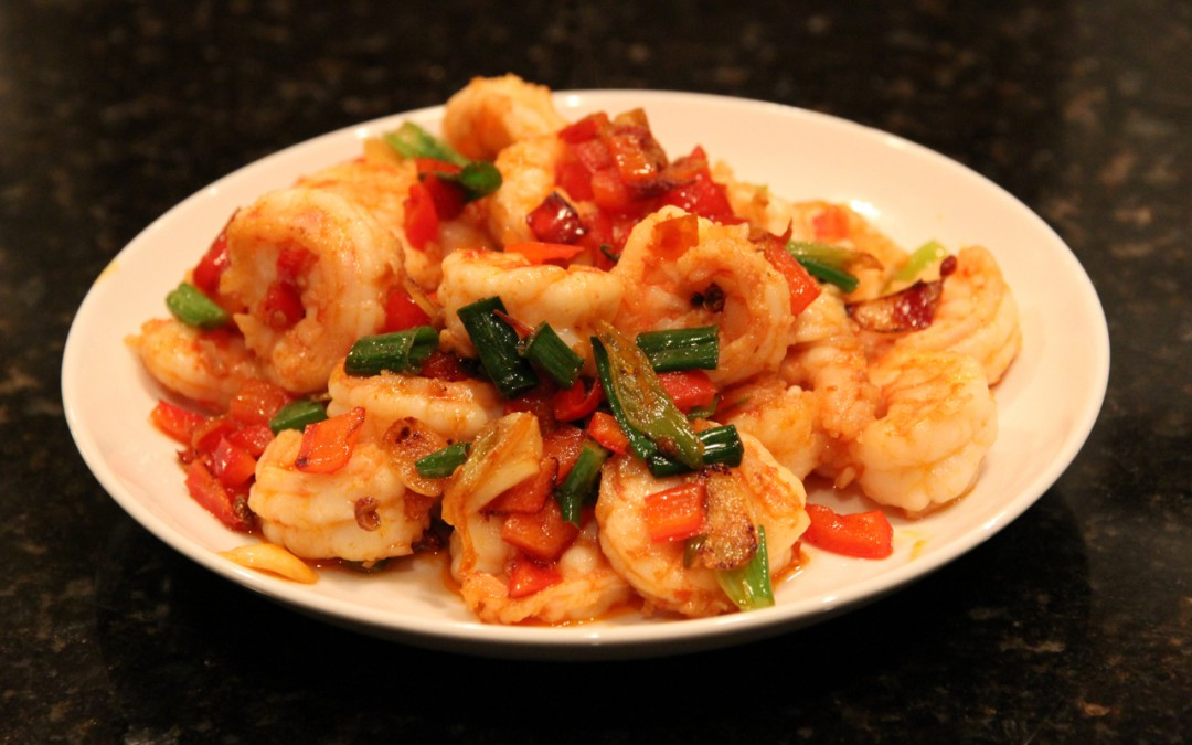 Sautéed Shrimp with Spicy Bean Paste