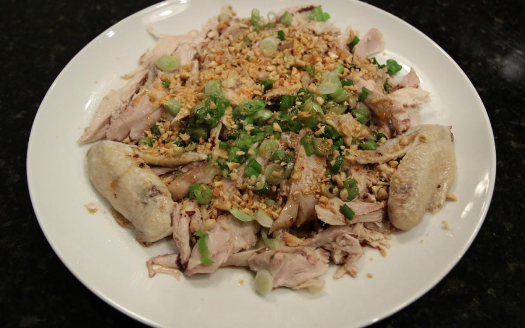Steamed Chicken in Sichuan Spicy Sauce
