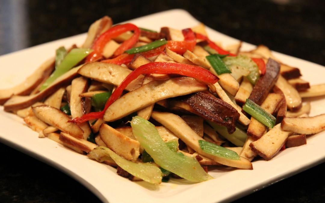 Dry Tofu Stir-Fry with Celery