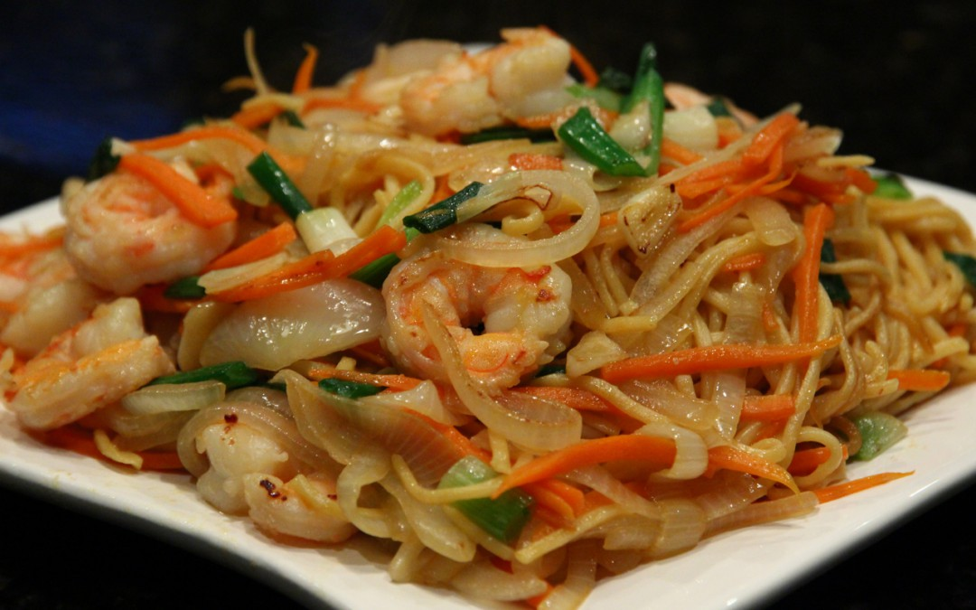 Stir-Fried Noodles with Shrimp | Chinese Healthy Cooking