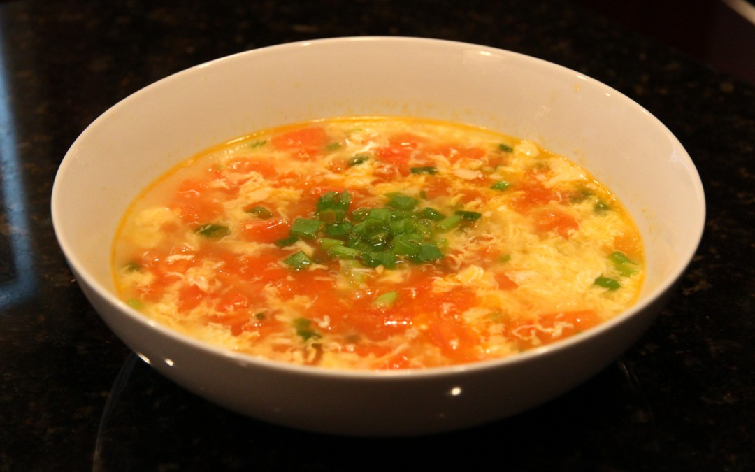 Tomato and Egg Drop Soup