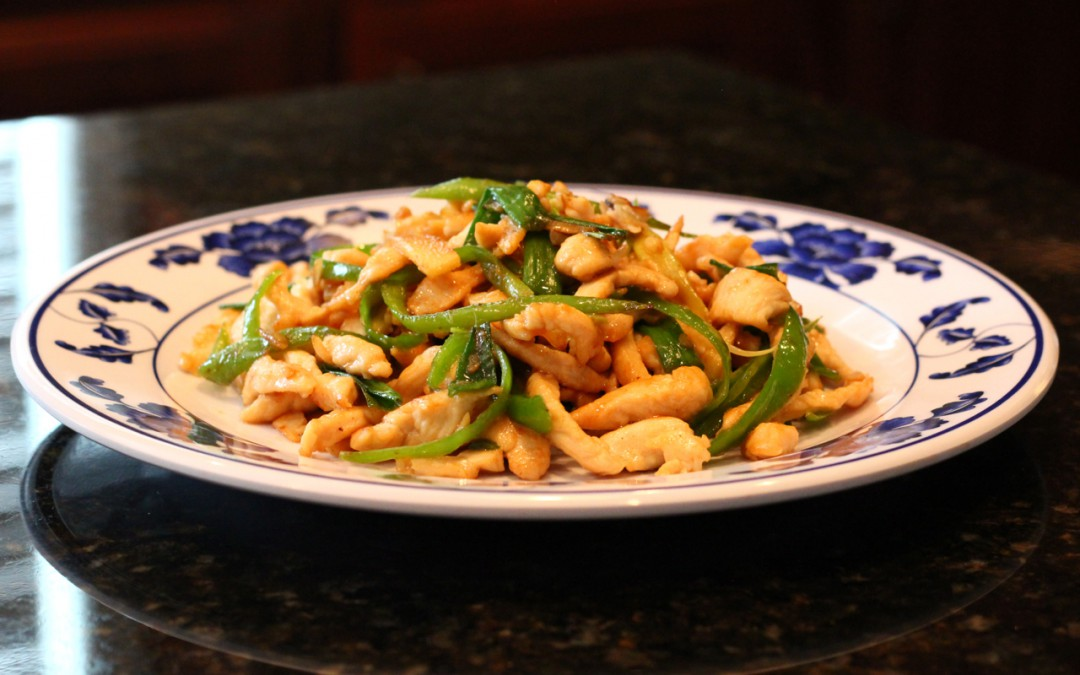 Chicken and Green Peppers Stir Fry