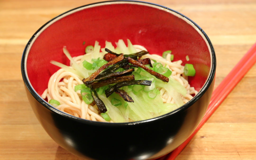 Cold Noodles with Green Onion Oil 葱油凉面